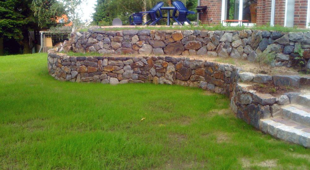 Garten Neugestaltung Mauer